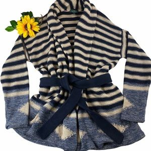 RALPH LAUREN Cotton Linen Knit Cardigan Sweater